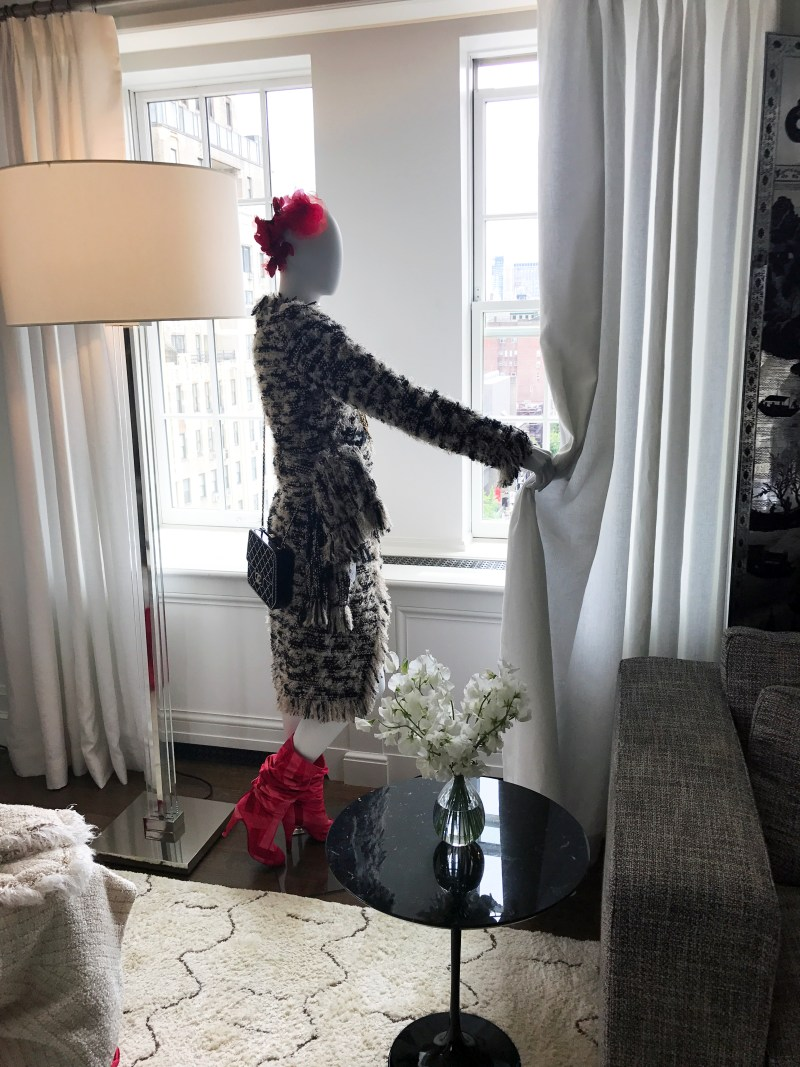 Mannequin dressed in chanel at the mark hotel