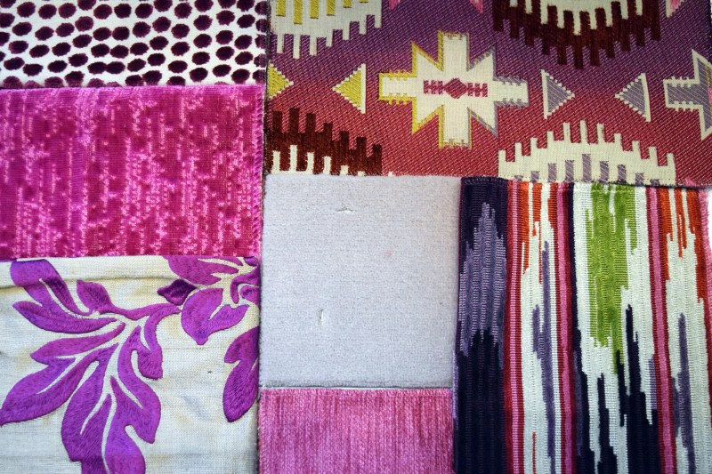 fabric swatches from joe lupo nyc interior designer