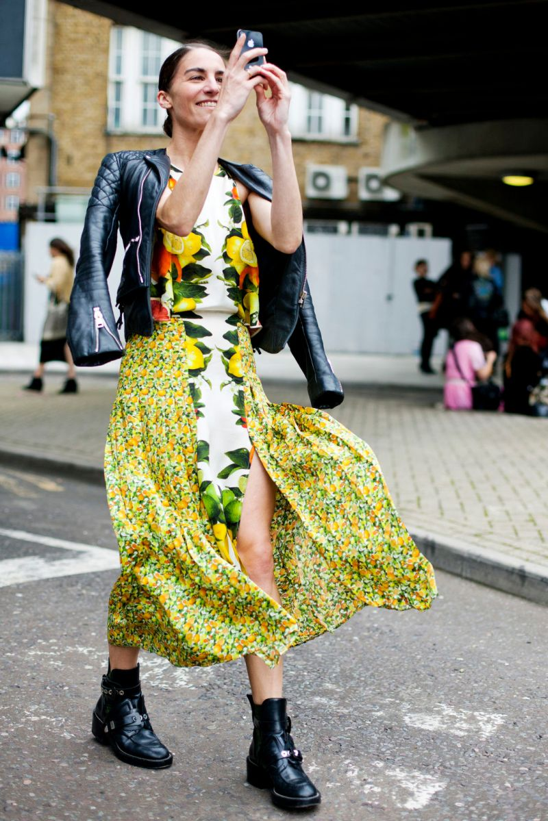 Tropical Print Street Style