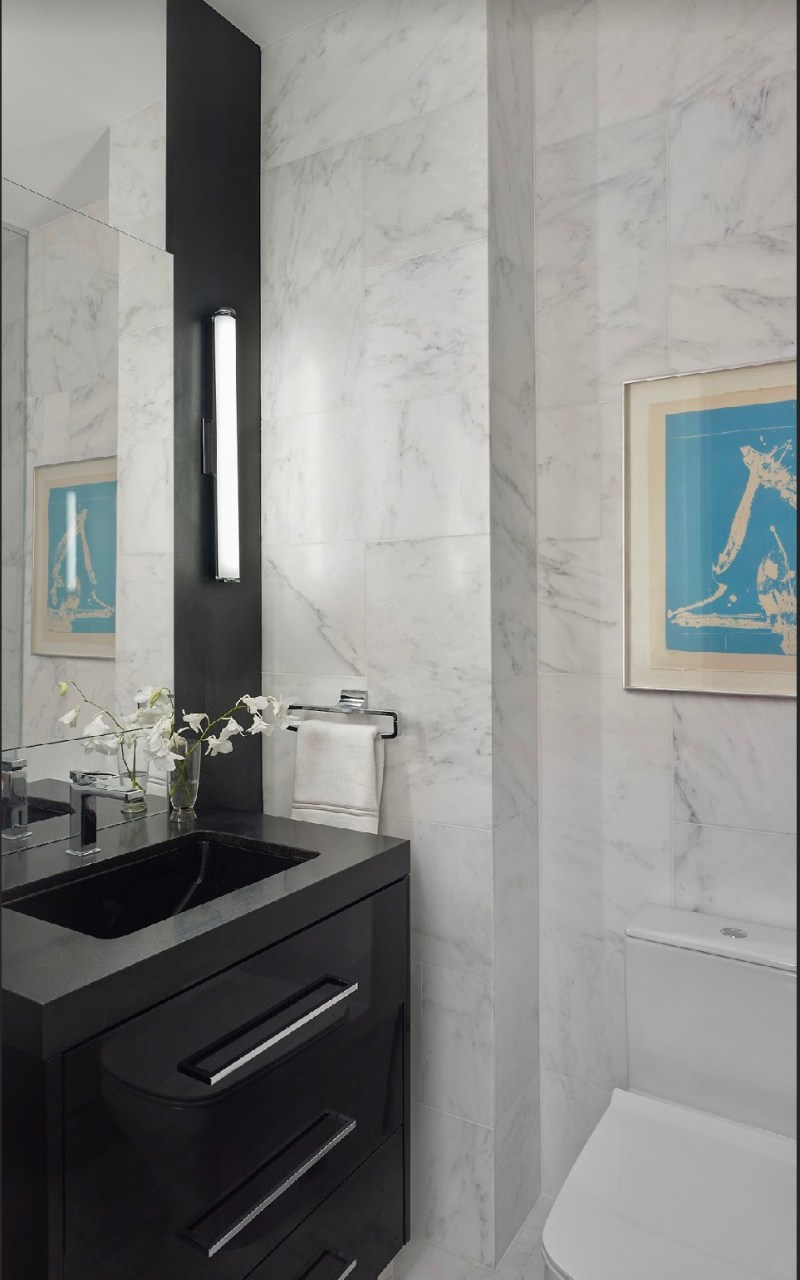 nyc marble bathroom