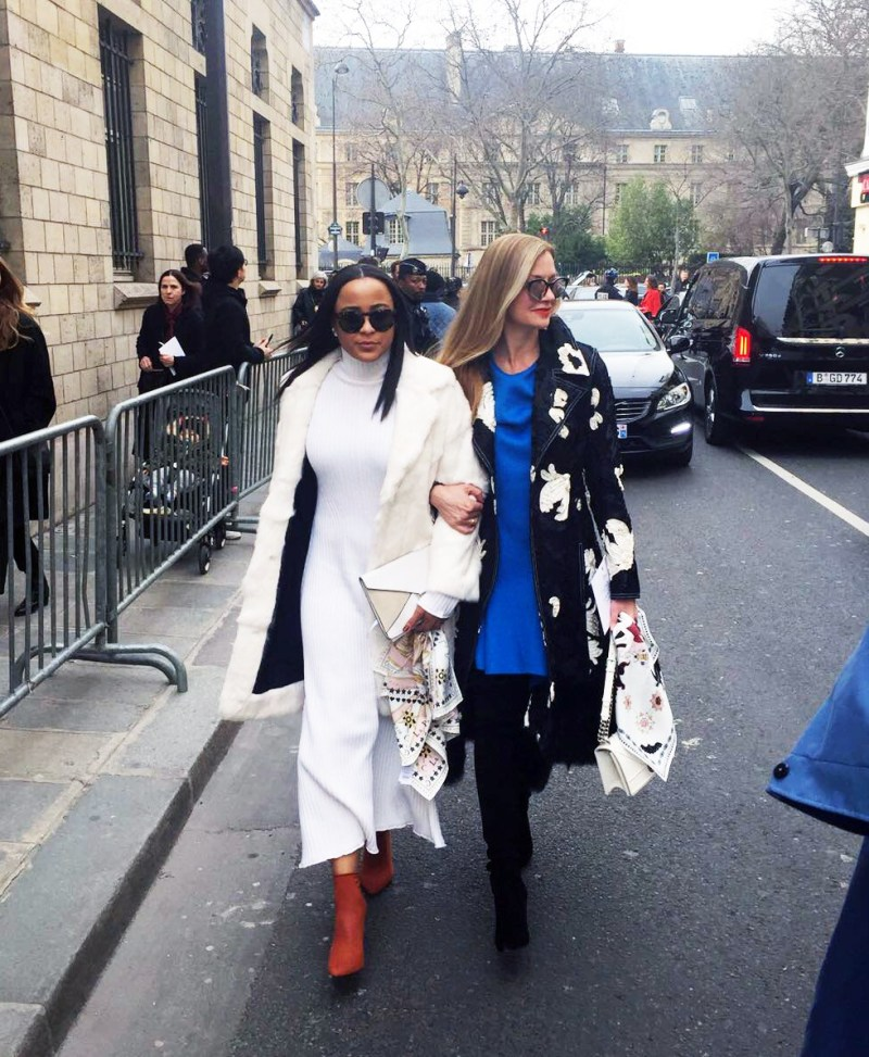 nyc's top personal stylists - visual therapy team - lisa marie mccomb, kellye henton at paris fashion week