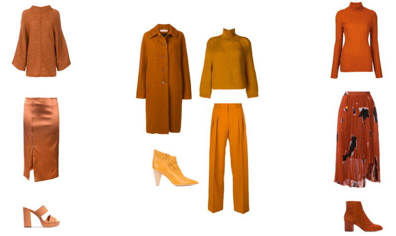 Monochromatic orange trend by visual therapy stylists