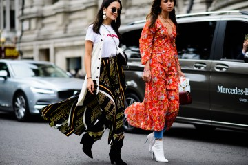 Dress Over Pants Street Style