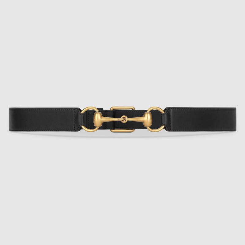 Horsebelt gucci black leather