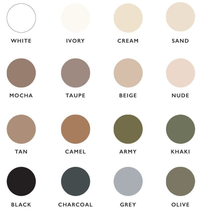 Neutral color palate