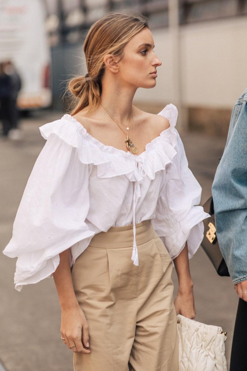 charlotte groeneveld in white shirt and khakis