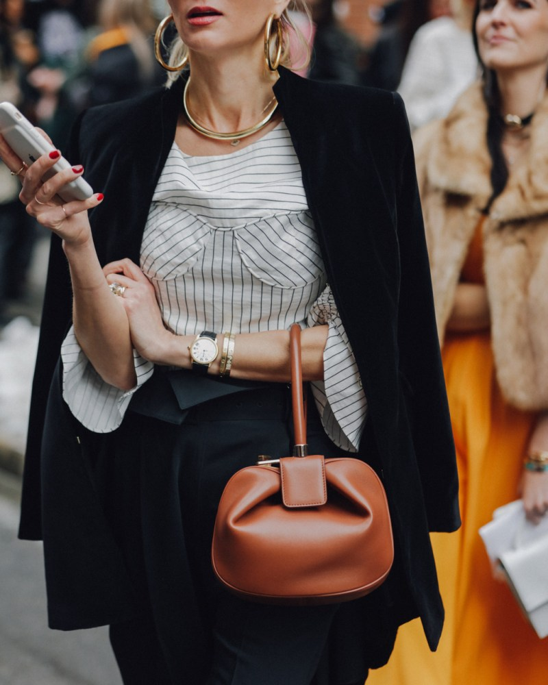 Gold Hoops street style