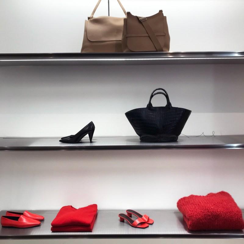 Merchandised shelf The Row