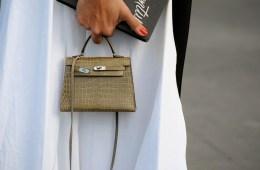 image of olive mini birkin bag