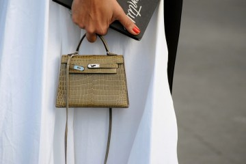 image of olive mini birkin bag