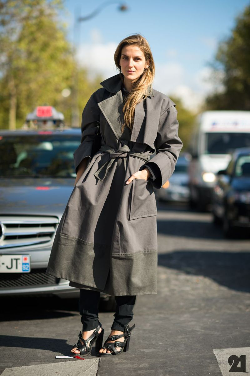 trench coat street style