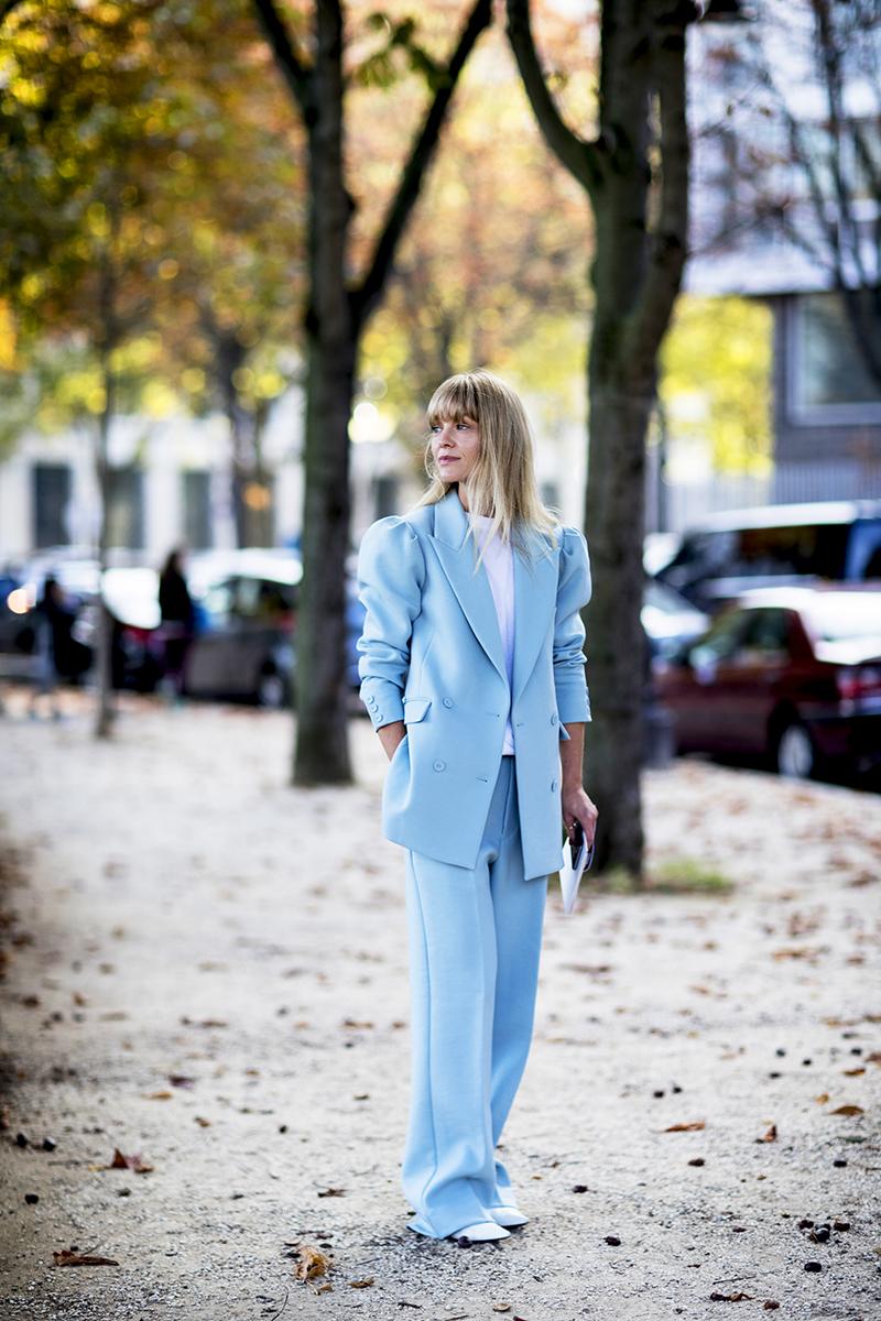 color suit street style