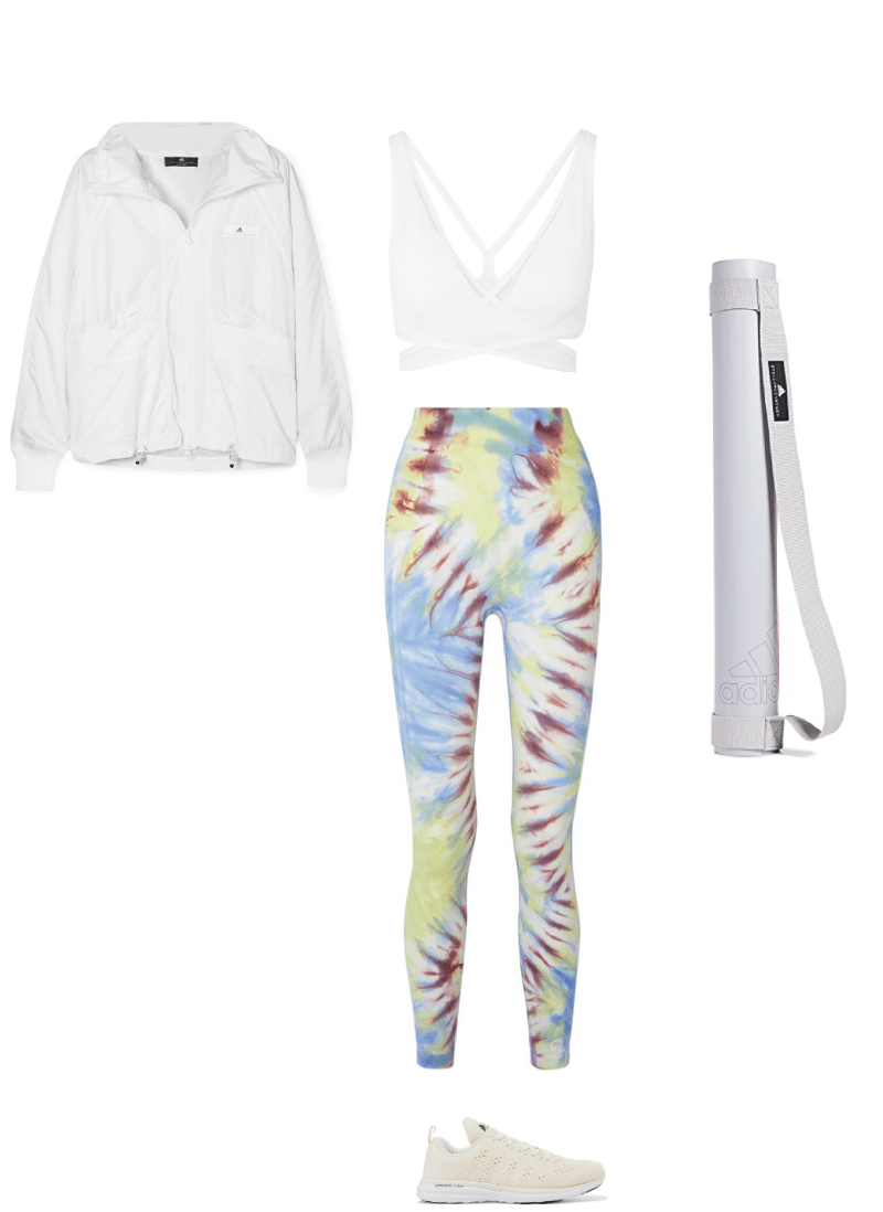 chic yoga outfit