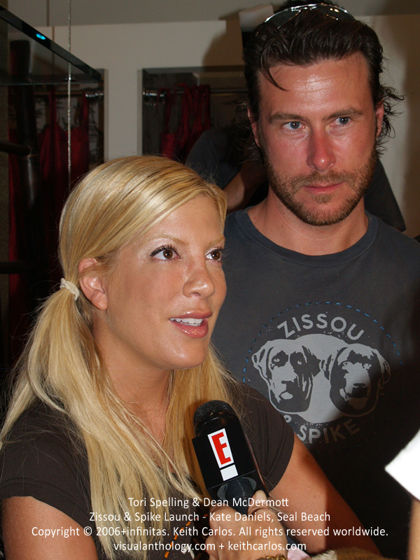 Tori Spelling & Dean McDermott - Zissou & Spike Clothing Launch Party at Kate Daniels Boutique in Seal Beach, California - circa 2006 - Copyright © 2006+infinitas. Keith Carlos. All rights reserved worldwide. visualanthology.com + keithcarlos.com