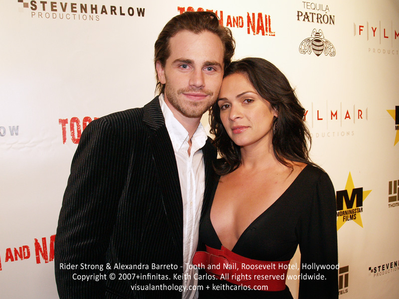 Rider Strong & Alexandra Barreto - Tooth and Nail Movie Premiere Party, Roosevelt Hotel, Hollywood, Los Angeles, California - Copyright © 2007+infinitas. Keith Carlos. All rights reserved worldwide. visualanthology.com + keithcarlos.com