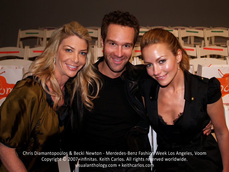 Chris Diamantopoulos & Becki Newton - Silicon Valley, About a Boy, Episodes, The Three Stooges, The Goodwin Games, How I Met Your Mother, Ugly Betty, Mercedes-Benz Fashion Week 2007 March, Voom Fashion Show, Smashbox Studios, Los Angeles, California - Copyright © 2007+infinitas. Keith Carlos. All rights reserved worldwide. visualanthology.com + keithcarlos.com