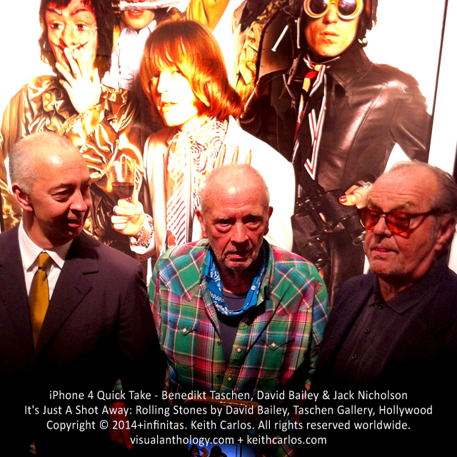 Benedikt Taschen, David Bailey & Jack Nicholson - It's Just A Shot Away: Rolling Stones in Photographs by David Bailey, Taschen Gallery, Hollywood, Los Angeles, California - Copyright © 2014+infinitas. Keith Carlos. All rights reserved worldwide. visualanthology.com + keithcarlos.com