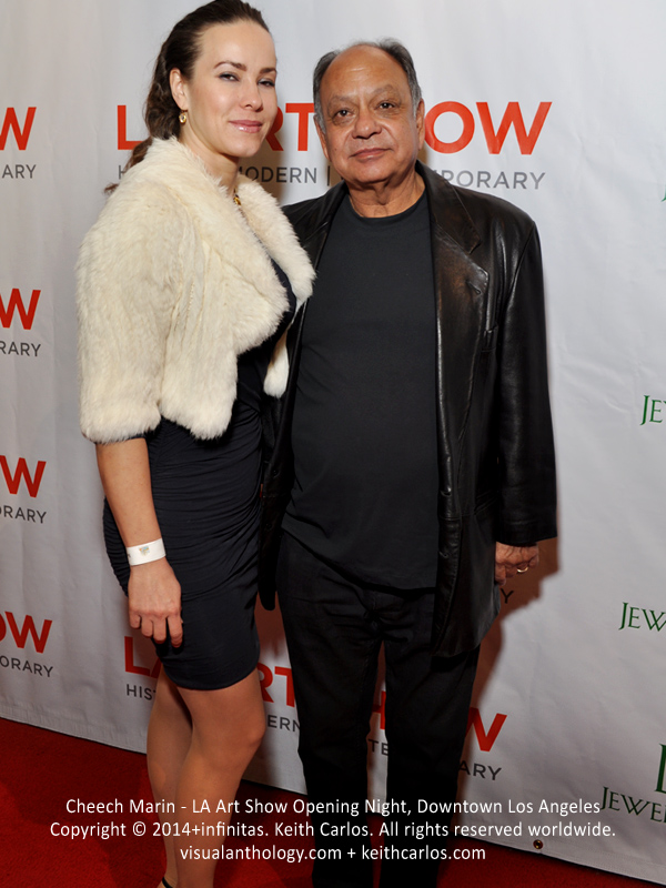 Cheech Marin - Cheech & Chong, Jane the Virgin, The Book of Life, Machete, Lost, Cars; LA Art Show Grand Opening Night Press Reception Party, Convention Center Downtown LA, Los Angeles, California - Copyright © 2014+infinitas. Keith Carlos. All rights reserved worldwide. visualanthology.com + keithcarlos.com