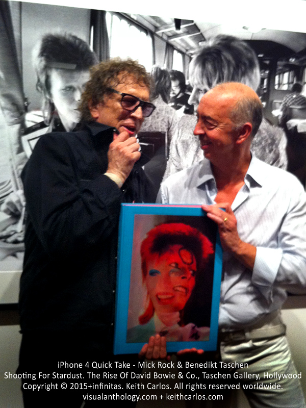 Mick Rock & Benedikt Taschen - Shooting For Stardust. The Rise Of David Bowie & Co., Taschen Gallery, Hollywood, Los Angeles, California - Copyright © 2015+infinitas. Keith Carlos. All rights reserved worldwide. visualanthology.com + keithcarlos.com