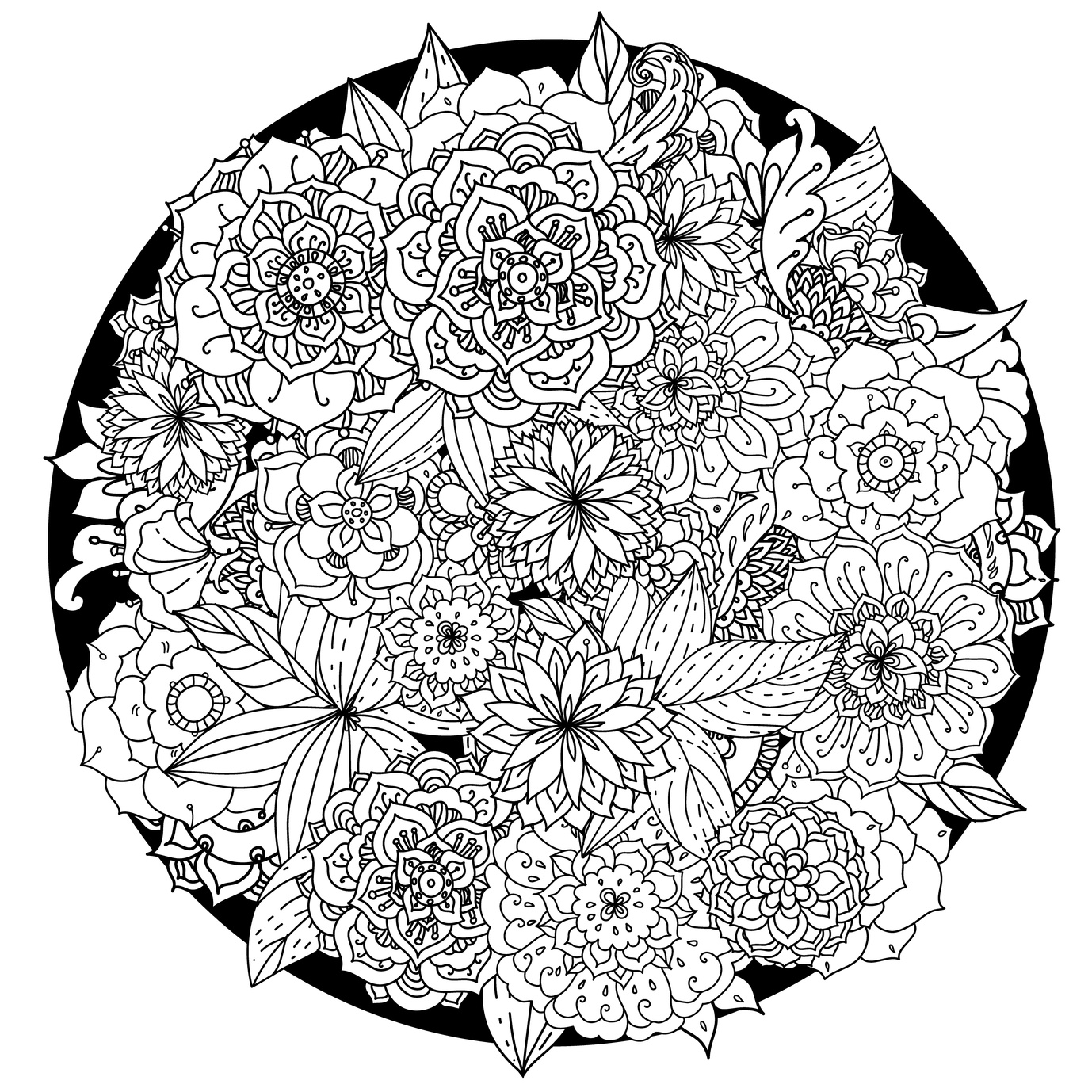63 Adult Coloring Pages To Nourish Your Mental - Visual ...   free printable mandala coloring pages for adults easy