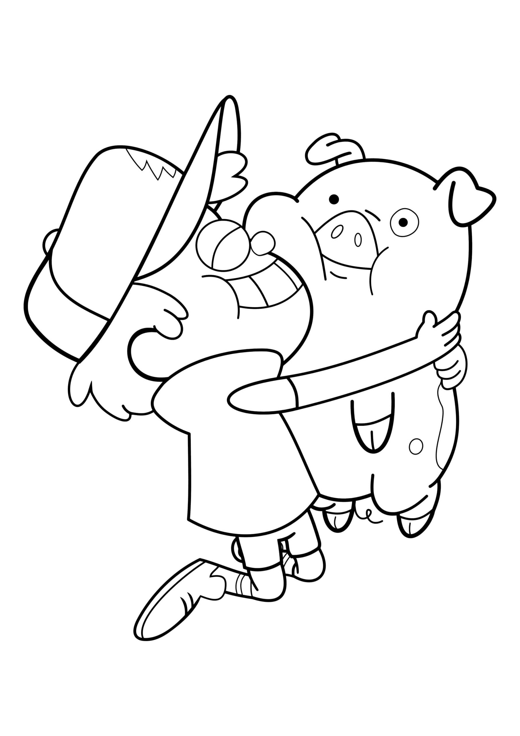 Gravity Falls Coloring Pages Pictures