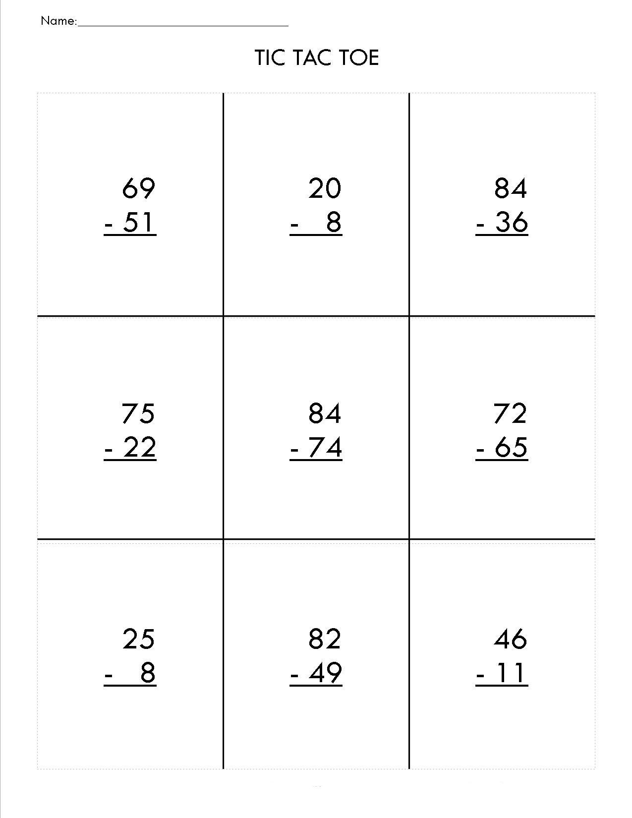 Math Worksheets For 2nd Grade