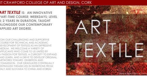 Art Textile Level 8 Special Purpose Award 2020-2022, CIT