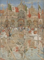 Splash of Sunshine and Rain (Piazza San Marco, Venice), 1899. Maurice B. Prendergast
