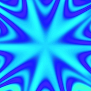 electric blue ombre star