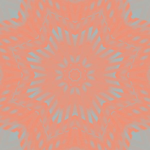 coral star mandala kaleidoscopic image
