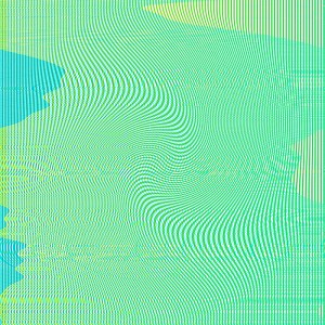 green and blue op art glitch moire waves