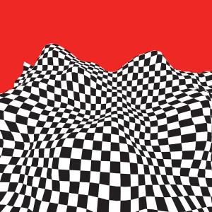 checkerboard wave graphic