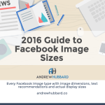 2016 Guide to Facebook Image Sizes [Infographic]