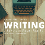 8 Sure-Fire Tips on Writing a Services Page that Sells