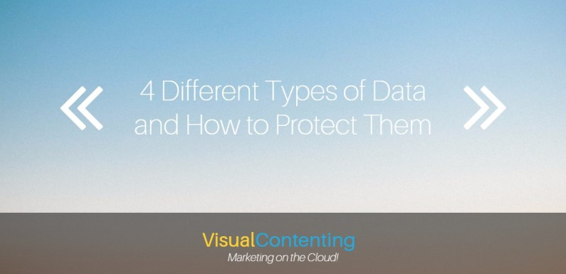 4 Different Types of Data and How to Protect Them