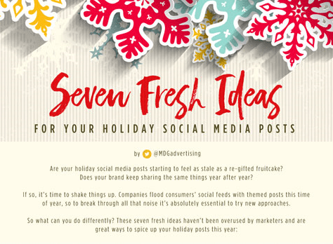 Seven Fresh Ideas for Your Holiday Social Media Posts [Infographic]