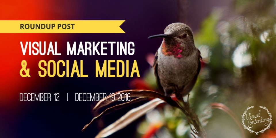 Visual Marketing and Social Media Roundup (December 12 – December 19 2016)