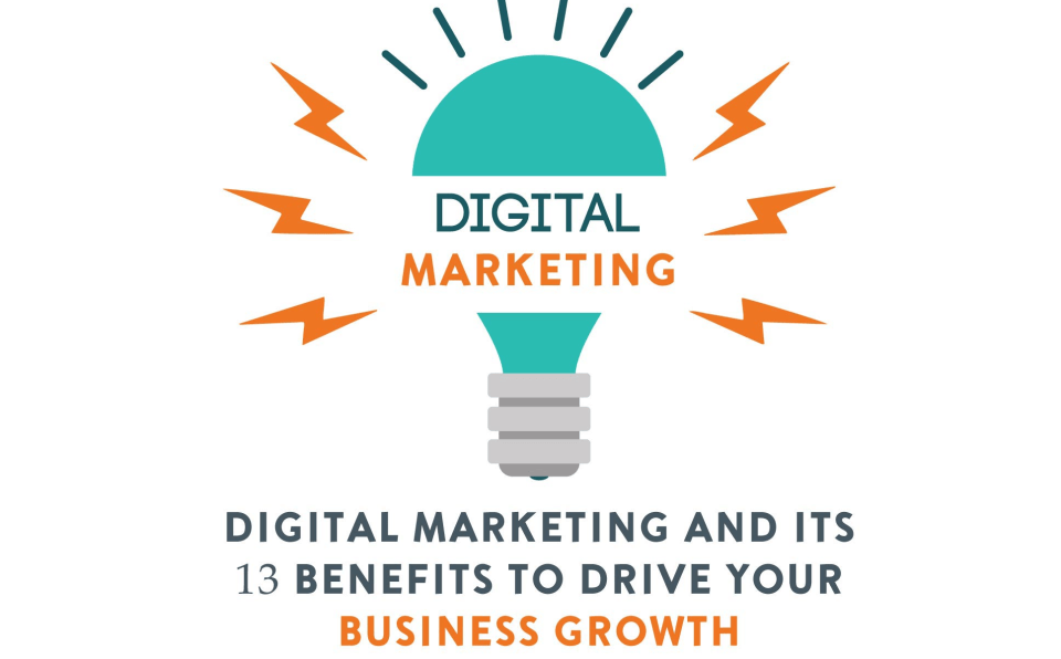 Digital Marketing and Its 13 Benefits to Drive Your Business Growth [Infographic]