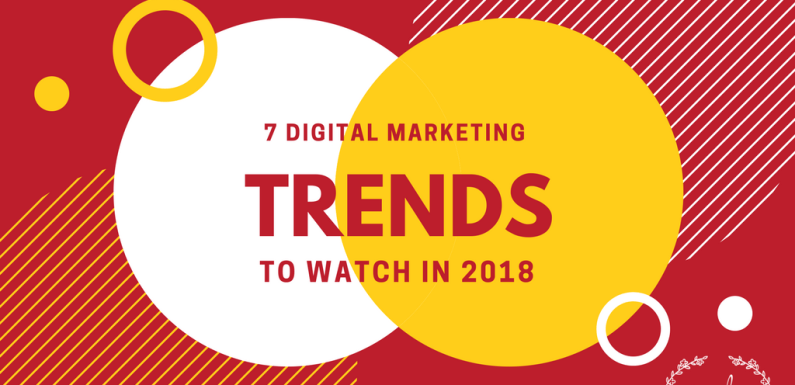 7 Digital Marketing Trends to Watch in 2018 [Infographic]