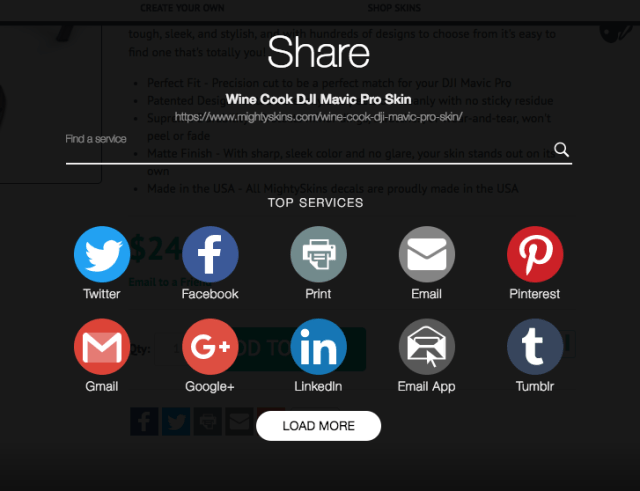 Pinterest Sharing for DJI skins from MightySkins