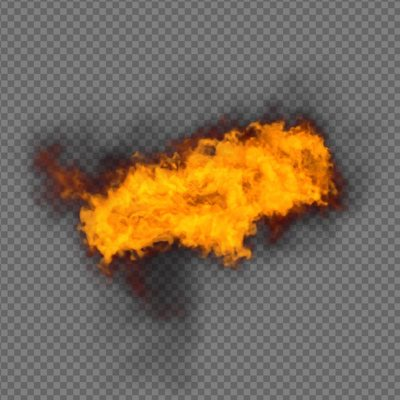 Fire Element Effect Side - alpha channel