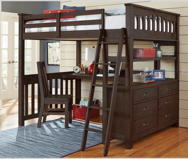 Full Size Loft Bed With Desk Uncategorized Interior
