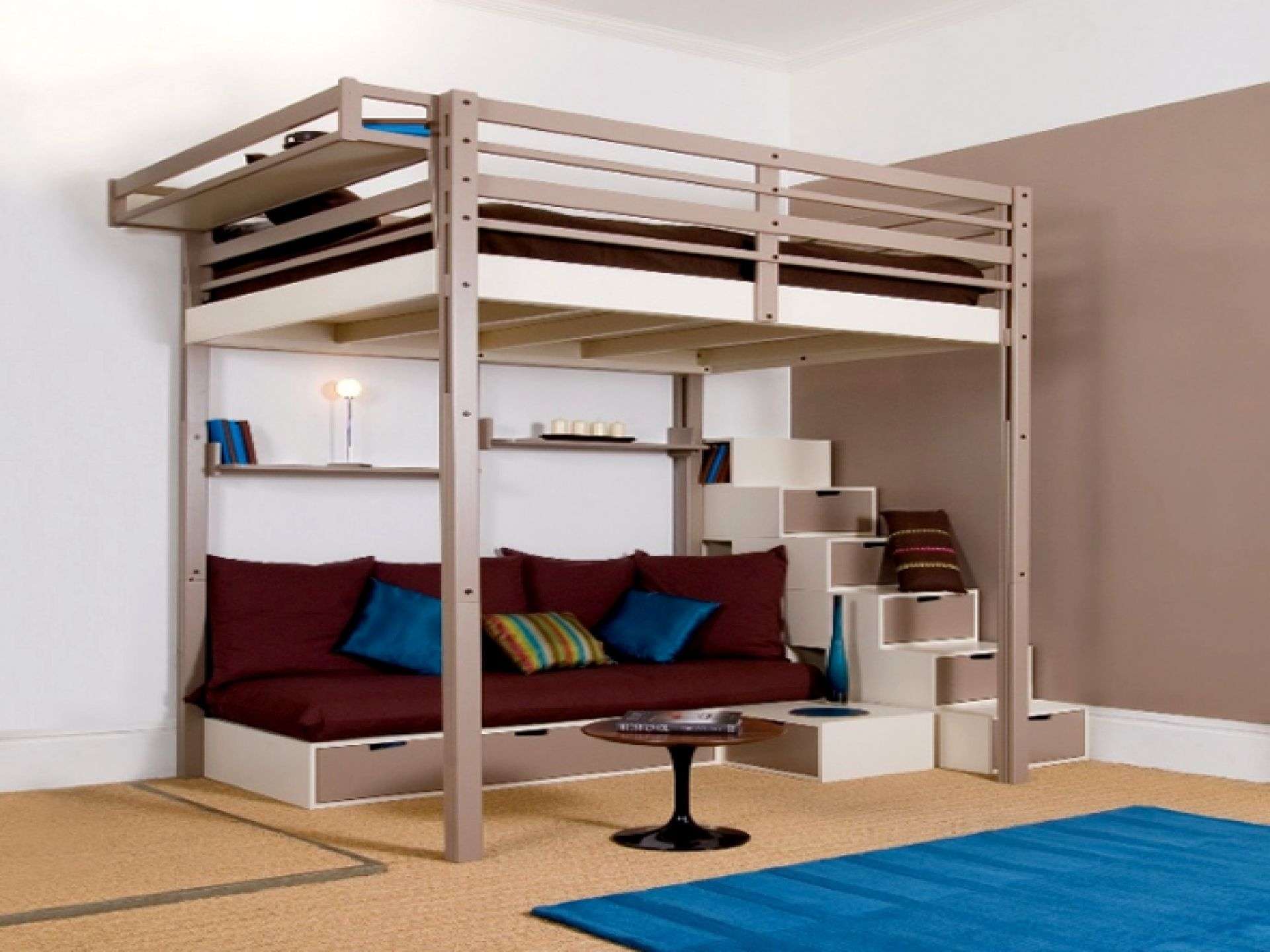 50 Full Size Loft Bed With Stairs You Ll Love In 2020
