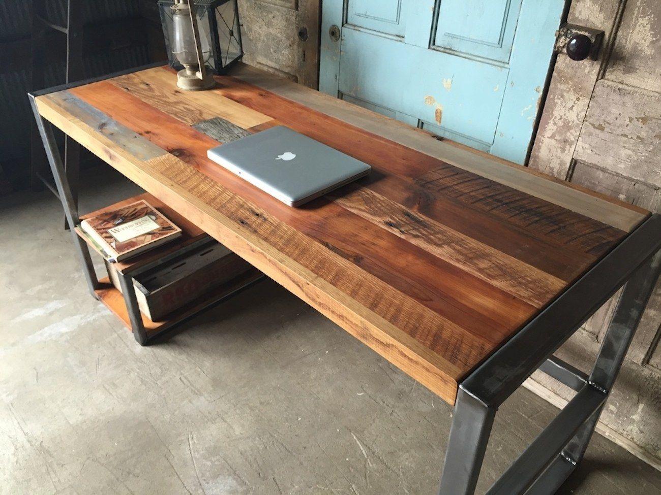 reclaimed wood computer desk you ll