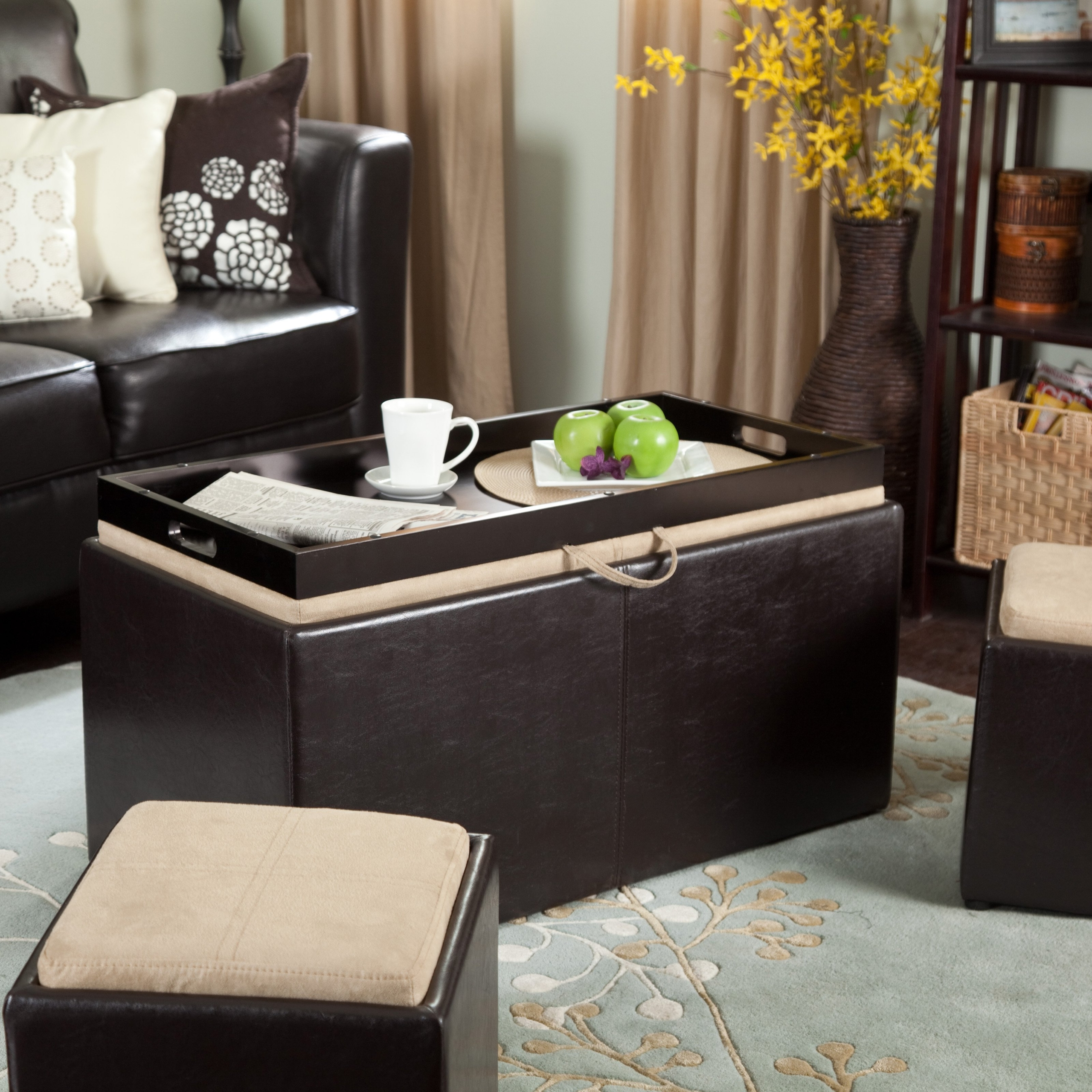 storage ottoman coffee table you ll