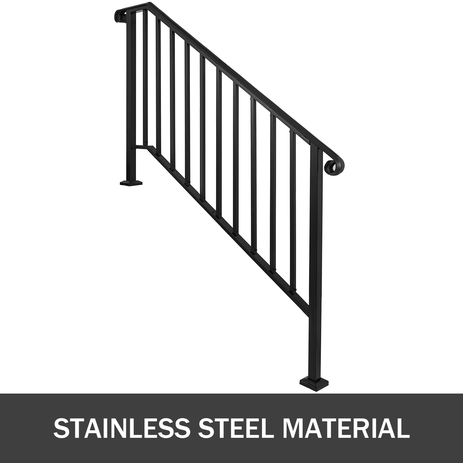 50 Outdoor Metal Stair Railing Kits You Ll Love In 2020 Visual Hunt | Metal Railing Stairs Outdoor | Stair Treads | Aluminum | Railing Ideas | Wrought Iron | Spiral Staircase