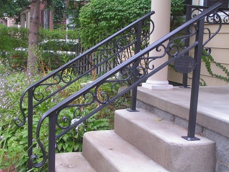 50 Outdoor Metal Stair Railing Kits You Ll Love In 2020 Visual Hunt | Metal Handrails For Outdoor Steps | Outside | Hand | Backyard | Wood | Contemporary