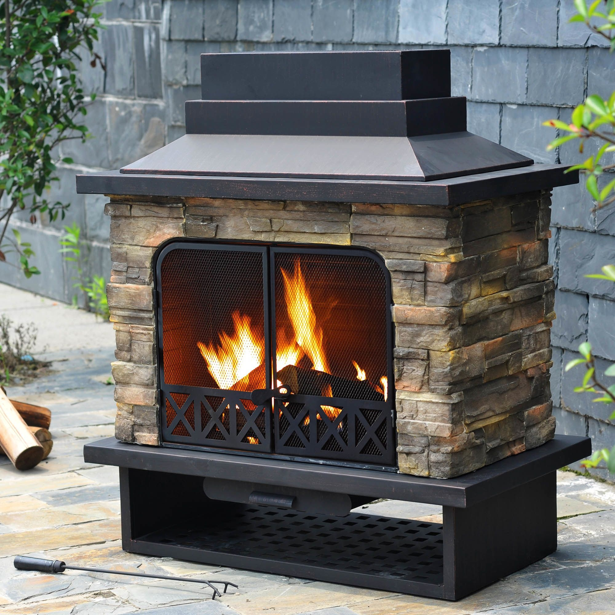 outdoor wood burning fireplace you ll