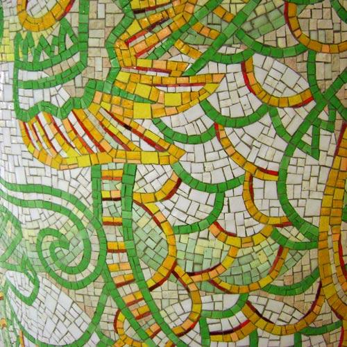 mosaic columns at SeaTac Airport