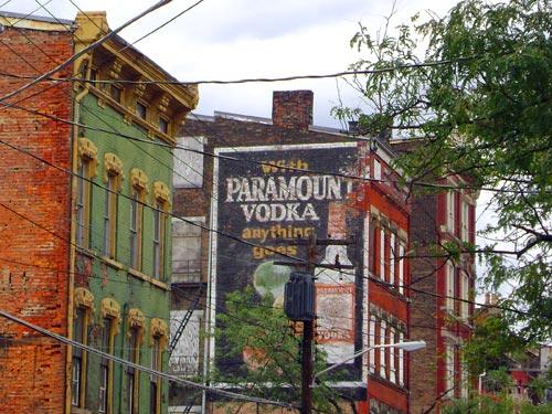 Paramount Vodka Ghost Sign in OTR